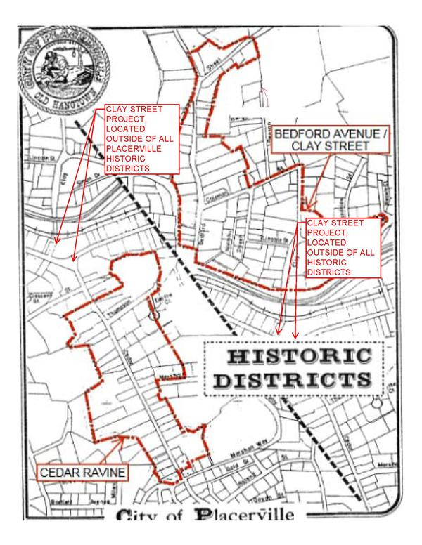 Placerville California Map.City Of Placerville California Clay Street Bridge Replacement